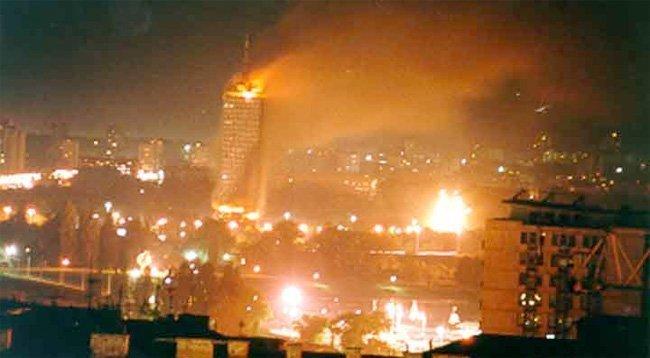 NATOs bombing av Beograd