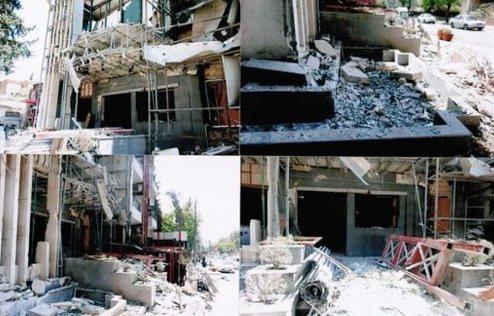 Dabeet fødselssykehus etter et direkte treff fra vestlig-støttede terrorister i Aleppo.