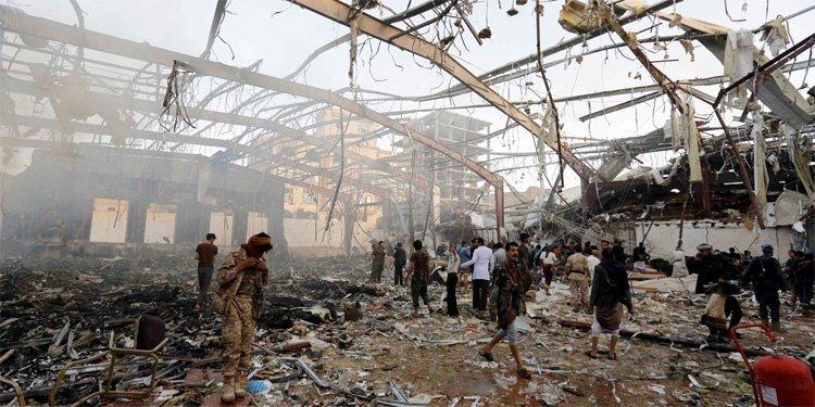 Etter bombeangrepet i Sana'a