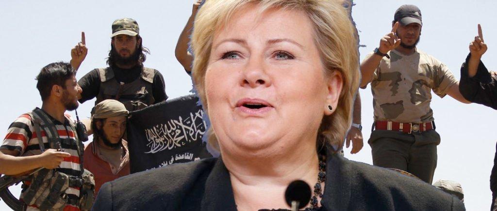Erna Solberg og Norge er de facto alliert med al Nusra