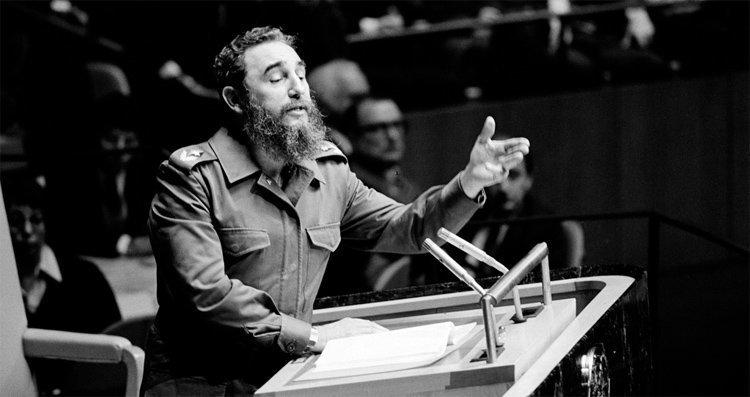 Fidel Castro taler i FN