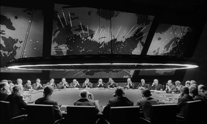 By Directed by Stanley Kubrick, distributed by Columbia Pictures - Dr. Strangelove trailer from 40th Anniversary Special Edition DVD, 2004, Public Domain, https://commons.wikimedia.org/w/index.php?curid=11862598